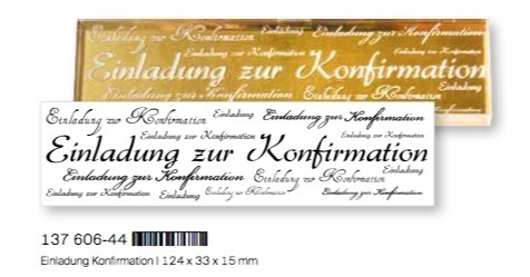 Artzo Stempel Einladung Konfirmation, 1 Stempel